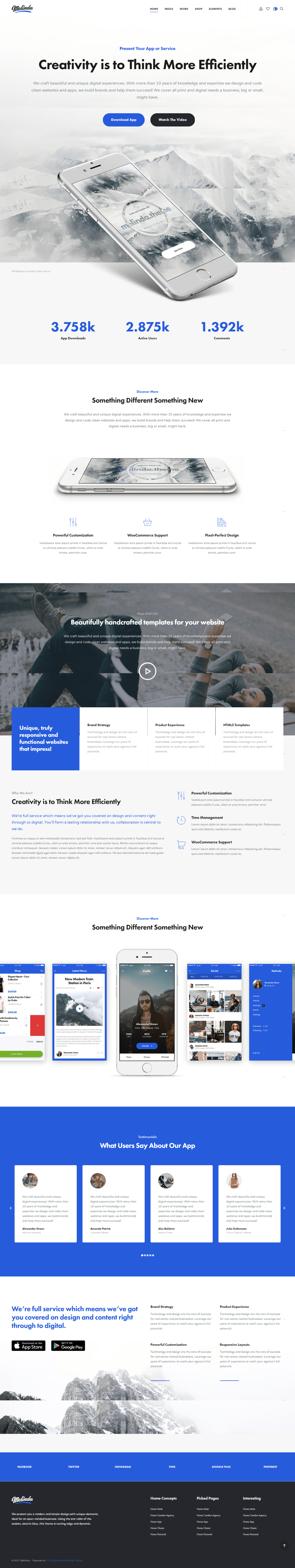 Modern And Simple Design Wordpress Theme Clean And Minimal Website Design Inspiration Moder Minimal Website Design Website Design Inspiration Wordpress Theme