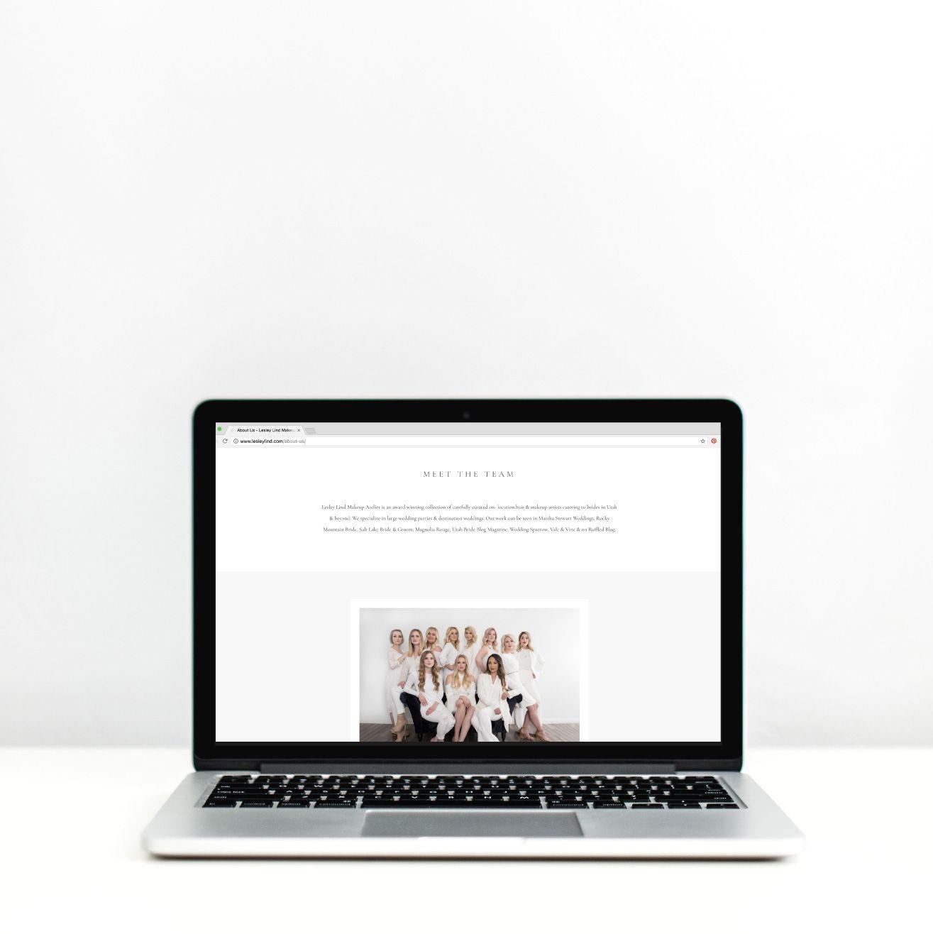 Brand Website Reveal Lesley Lind Makeup Atelier Online Web Design Web Design Website Branding