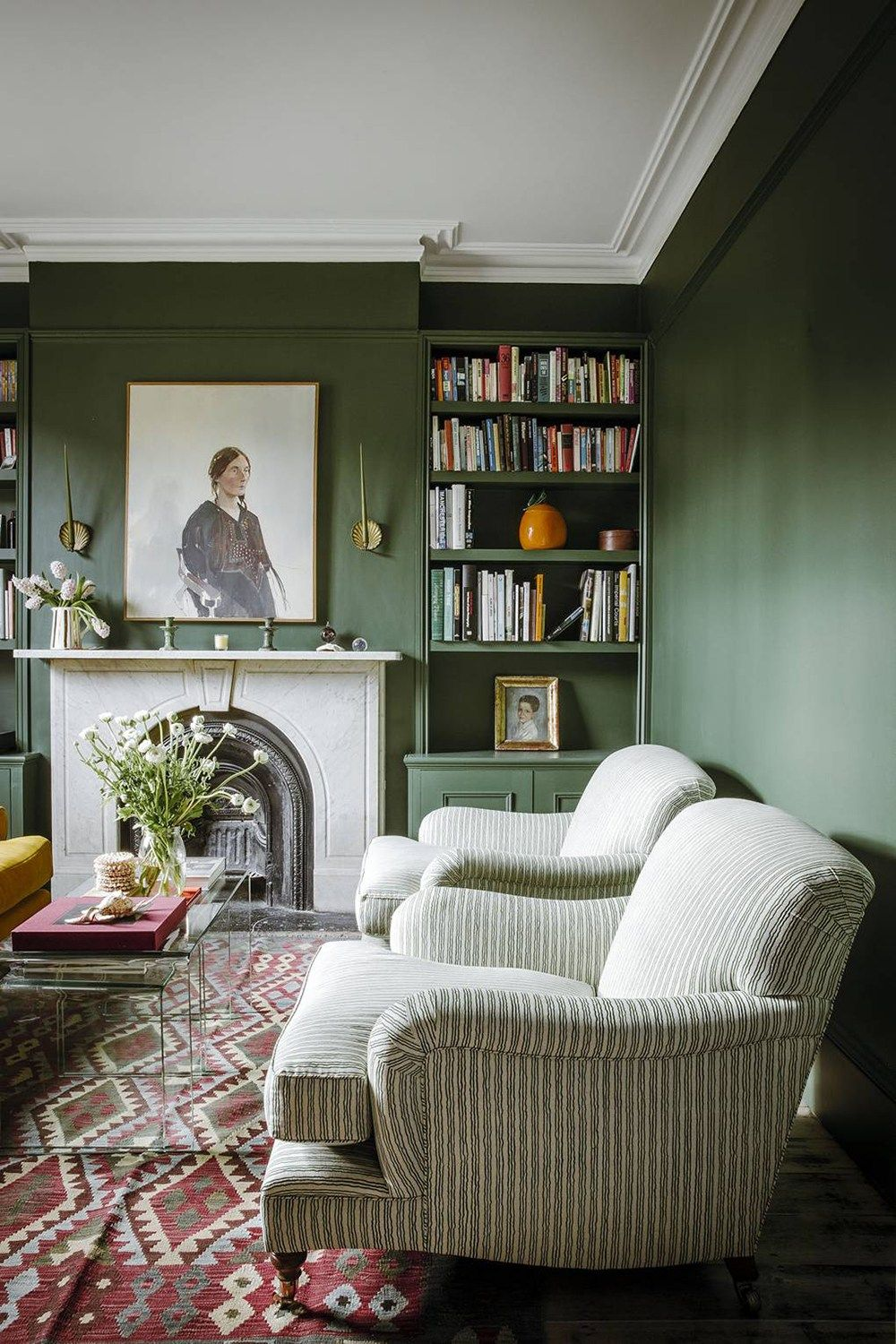 10 Pins Room For Tuesday Inspiration On Pinterest Green Walls Living Room Victorian Living Room Living Room Green