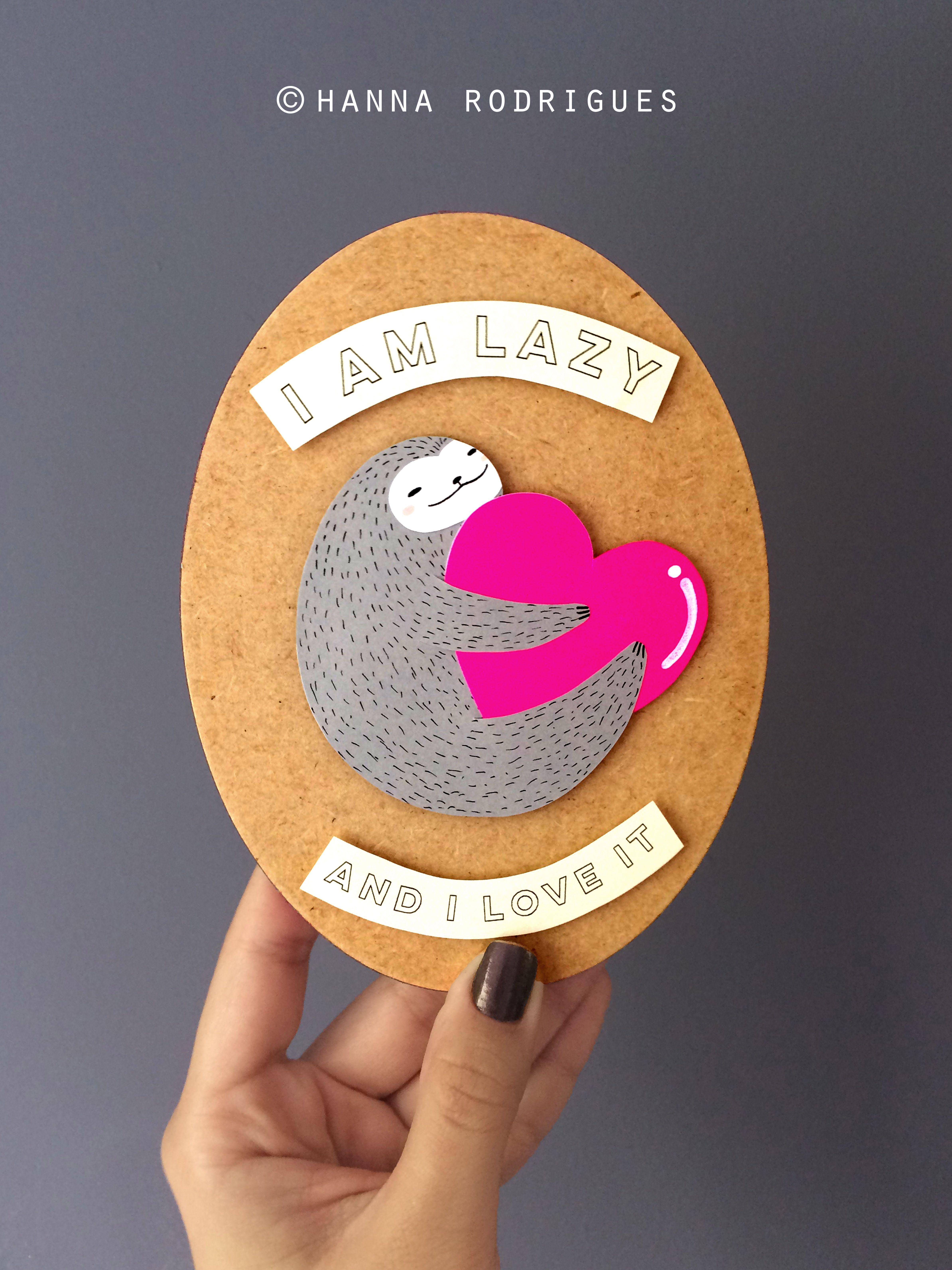 #illustration #handmade #crafts #sloth #art  #ilustração #paper #papercut #paperart #feitoamao #preguiça #lazy
