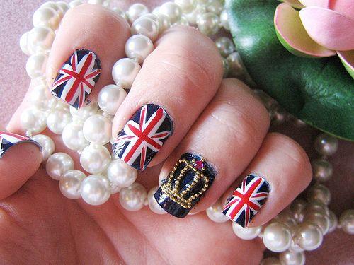 Union jack flag and crown nails - Union Jack Flag And Crown Nails Jewelry Pinterest Crown Nails