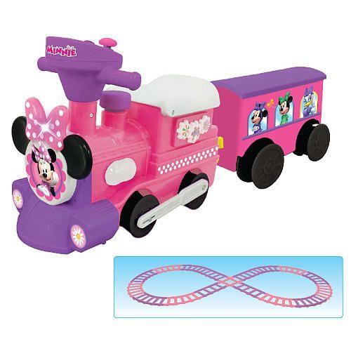 Disney Minnie Mouse Motorized Choo Choo Train With Tracks