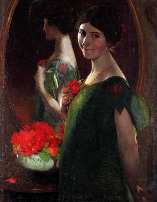 Leandro Ramon Garrido   -  Lady in front of a mirror.
