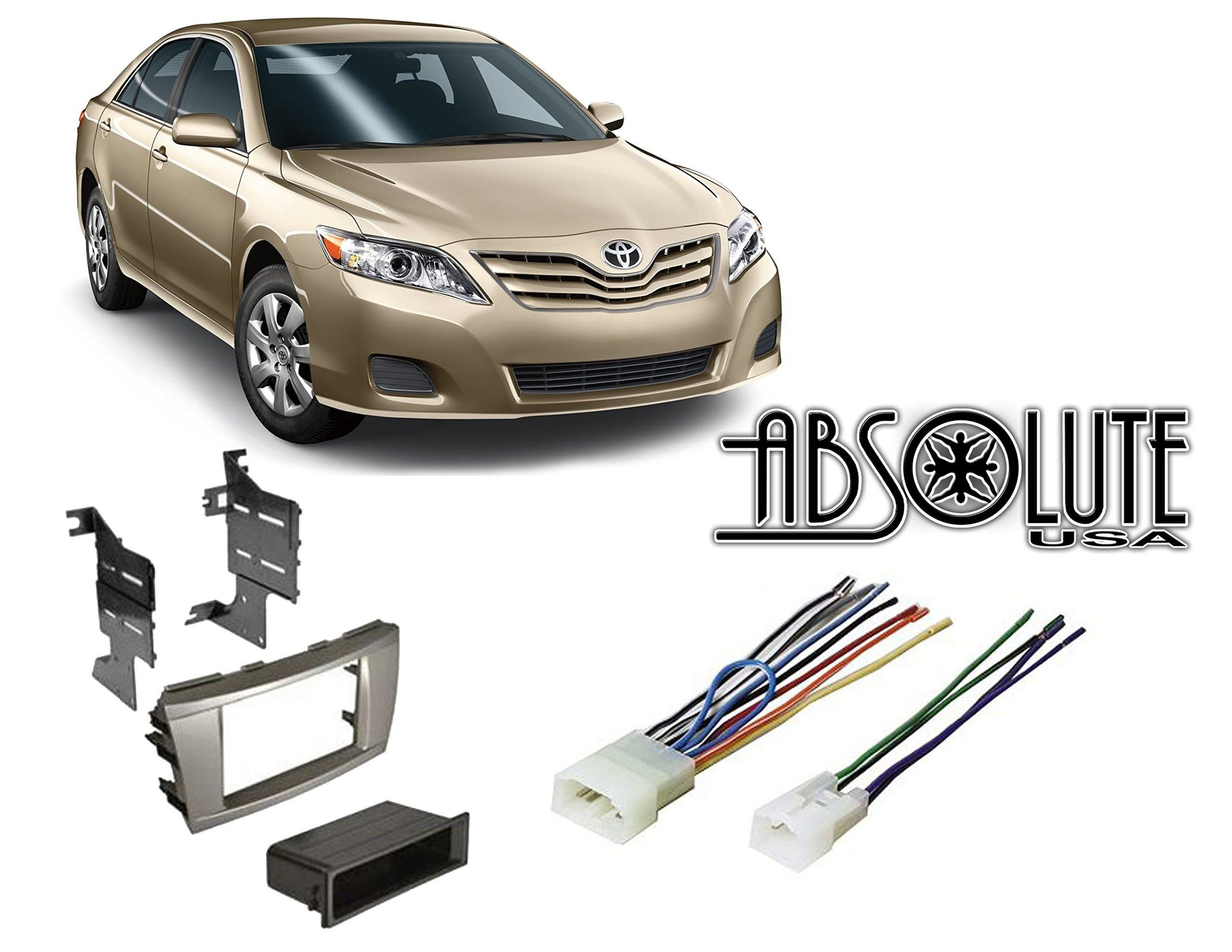 Absolute Radiokitpkg9 Fits Toyota Camry 2007 2011 Double Din Stereo Harness Radio Install Dash Kit Toyota Camry Camry Camry 2007