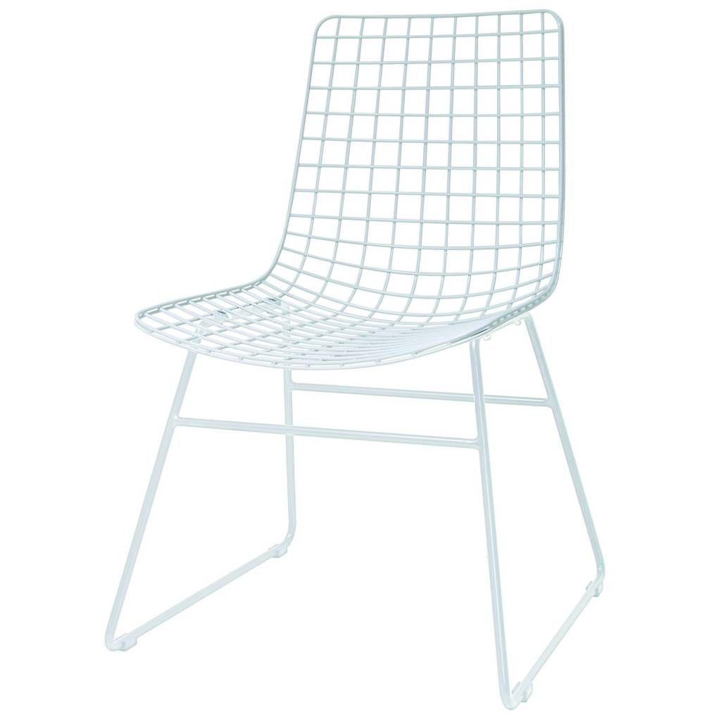 Eetkamerstoel wire dining wit metaal 47x54x86cm | Aufregen, Draht ...