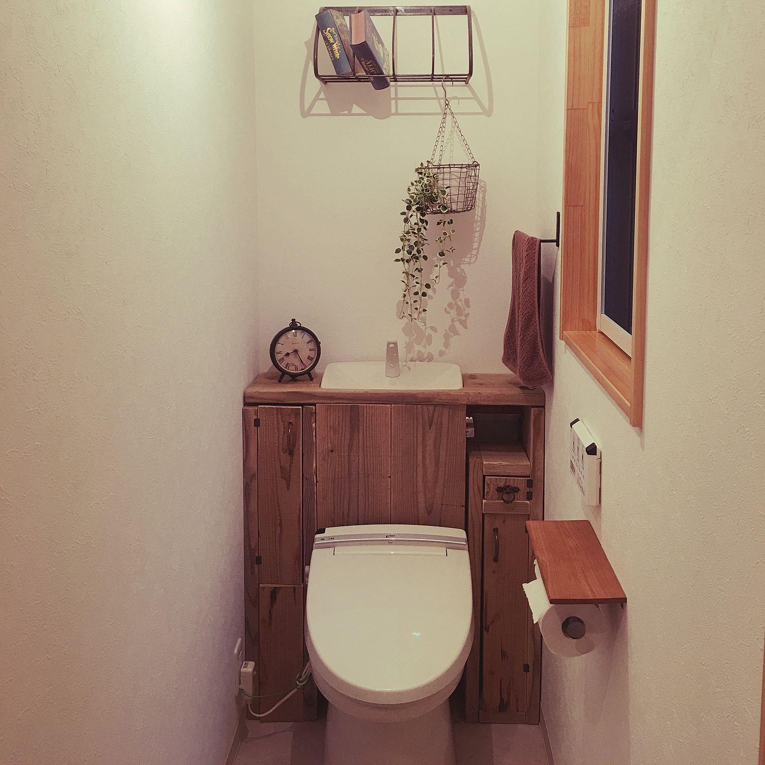 バス トイレ トイレタンク隠し Diy トイレ改造 トイレ収納 タンクレス
