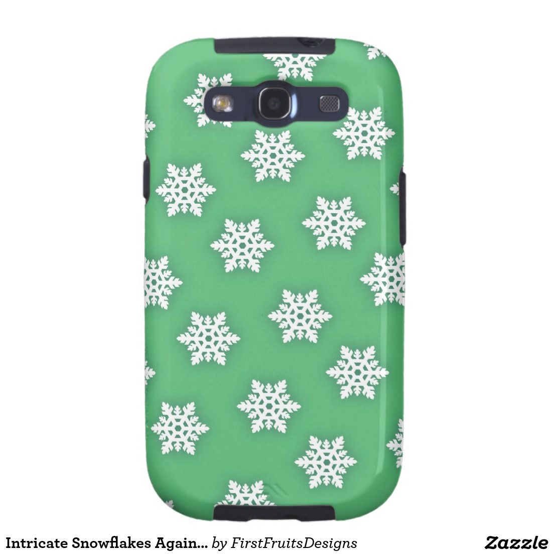 Intricate Snowflakes Against Soft Green Samsung Galaxy SIII Covers