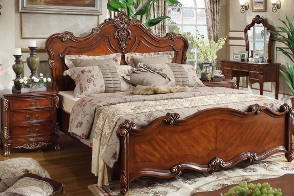 French Style Beds Muebles Pinterest Wood beds, French style