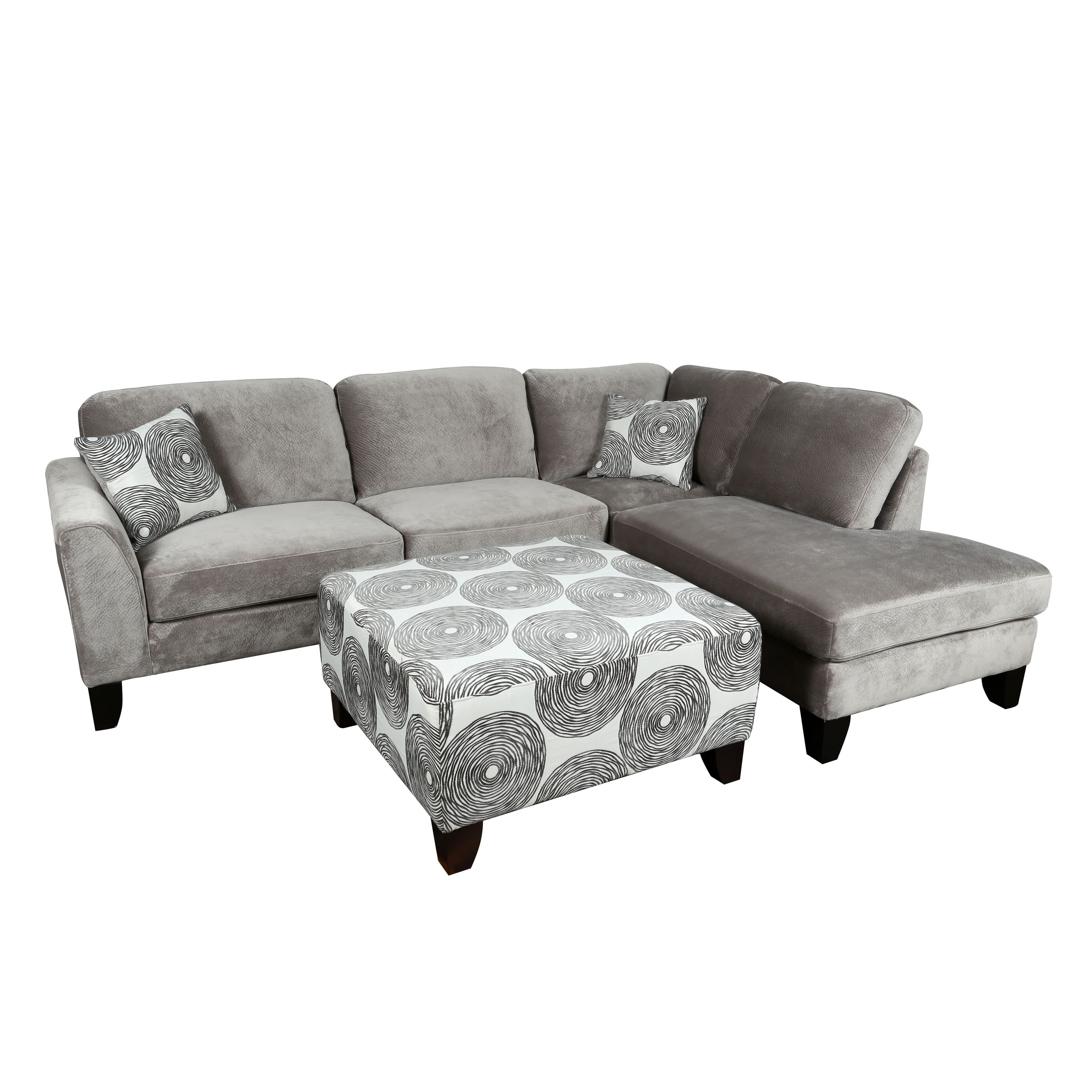 Magnificent Porter Designs Malibu Soft Microfiber 2 Piece Sectional With Short Links Chair Design For Home Short Linksinfo