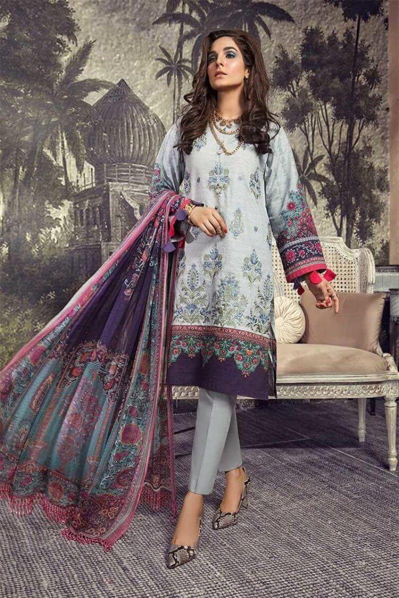 Pakistani Designer Kurti Kurta Maria B Gul Ahmed Inspired Digital Print