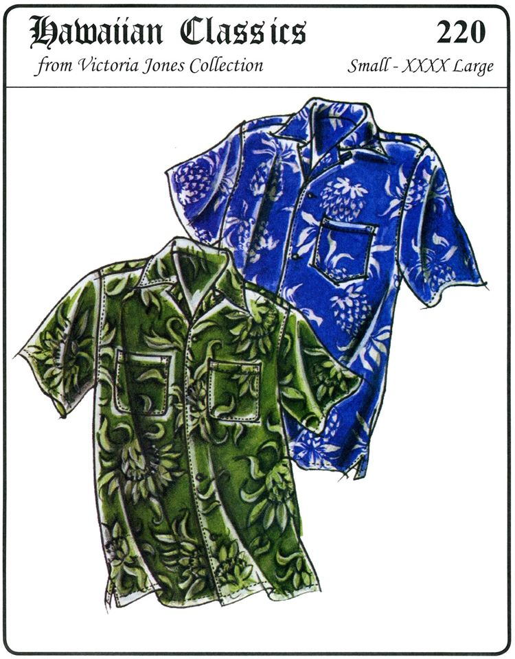0b6c559b Men's Hawaiian Shirt Pattern | Men's Loose-fit, Casual Hawaiian Shirt S-4XL  Victoria Jones Sewing .