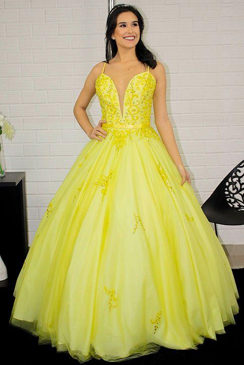 Vestido Longo Debutante/15 anos Bela e a Fera Princesa ...