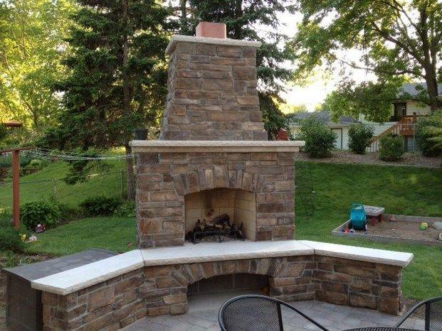 Nice Outdoor Corner Fireplaces Classic Design Ideas   Creative Fireplaces Design  Ideas
