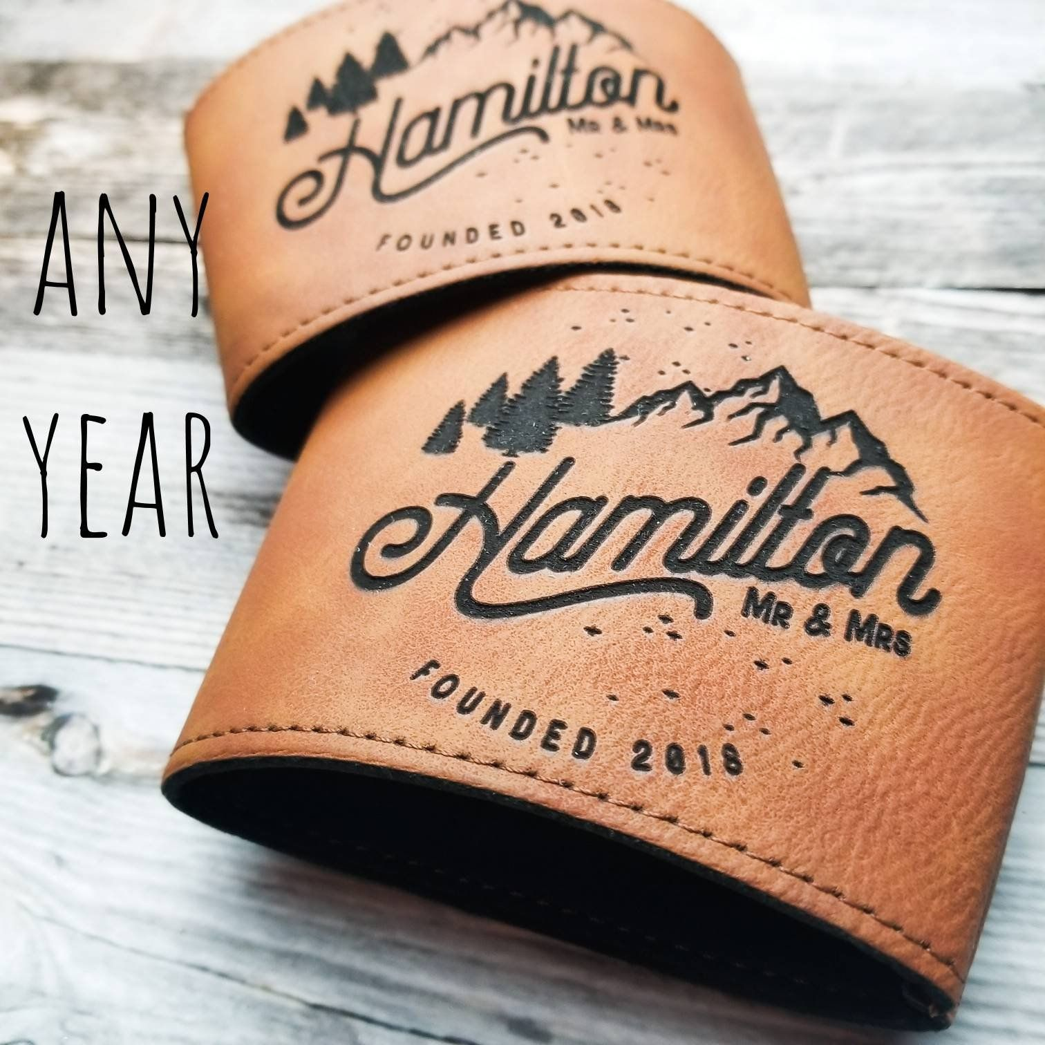 10th Anniversary Gift, Personalized Drink Sleeves