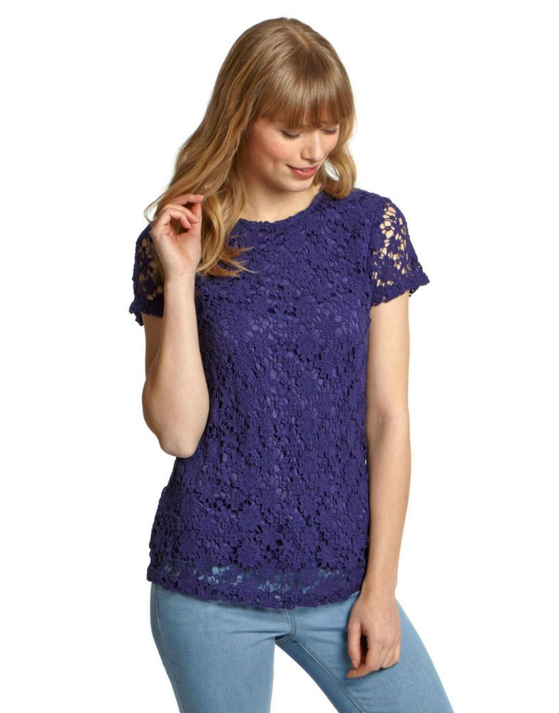 322e1c56b251fb Stunning Joules Ladies Q_Lissy Top UK size 18 in Navy | joules ...