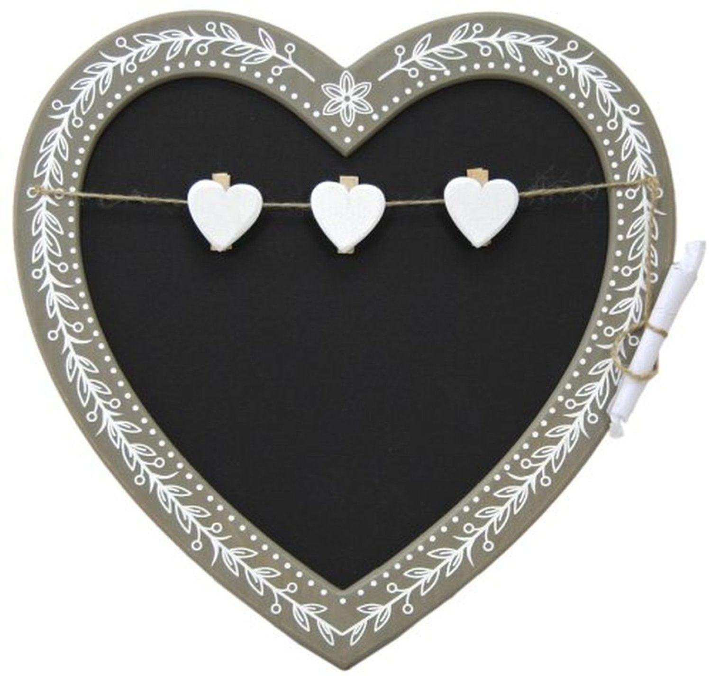 Vintage Shabby Chic Rustic Wooden Heart Shape Chalk Board ...