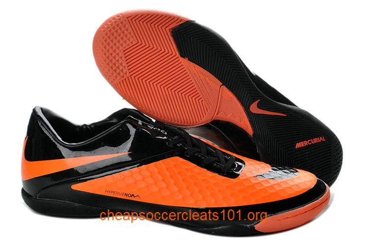 quality design 6751b c1137 Black Orange Nike Hypervenom Phelon IC Indoor Soccer Boots  Hallenfußball-schuhe, Günstige Fußballschuhe Mit