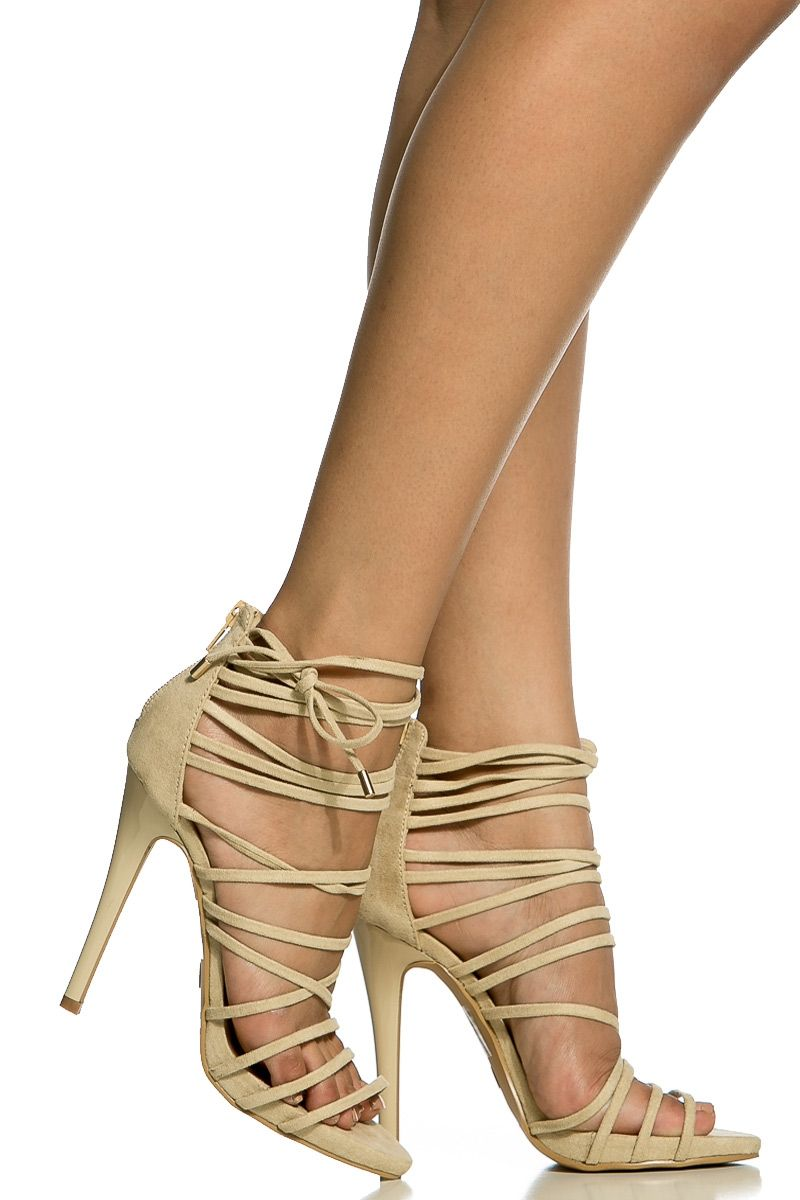 Details about Women Nude Beige Tan Suede Wedges Wedges