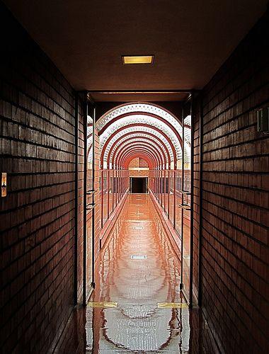 Corridor at Johnson Wax Building (1936)