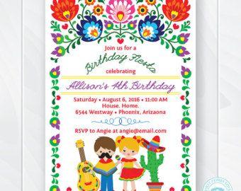 Fiesta Birthday Invitation Cinco De Mayo By MaluhiaPrints On Etsy