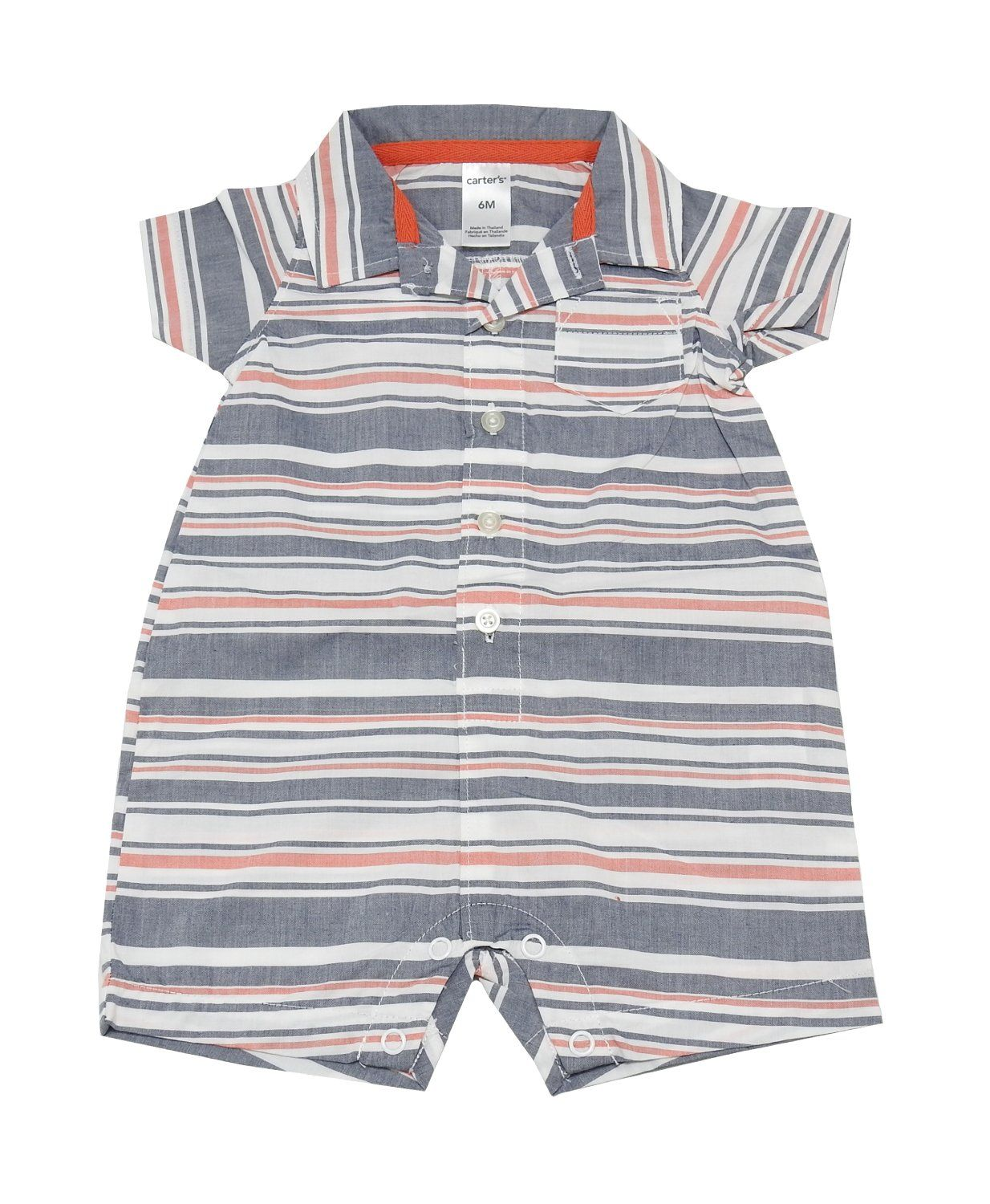 0b8e1bf62 Carter s Baby Boy Size 6 Months Striped Short Sleeve Romper
