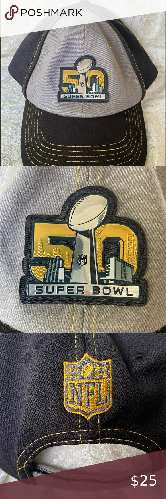 Super Bowl 50 Nfl Hat Denver Vs Carolina Good Cond Nfl Hats Super Bowl Nfl
