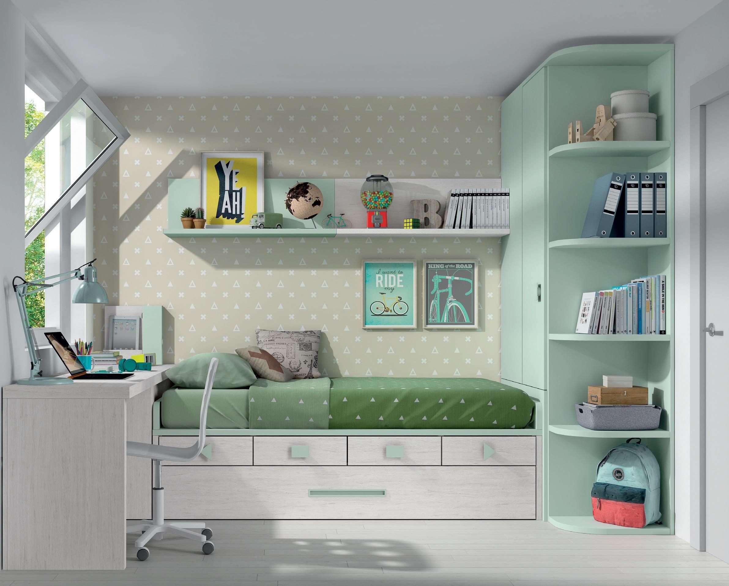 Pin De Hilda Galindo En Diseno Juvenil Mueble Compacto Habitaciones Juveniles Habitaciones Infantiles Dormitorios