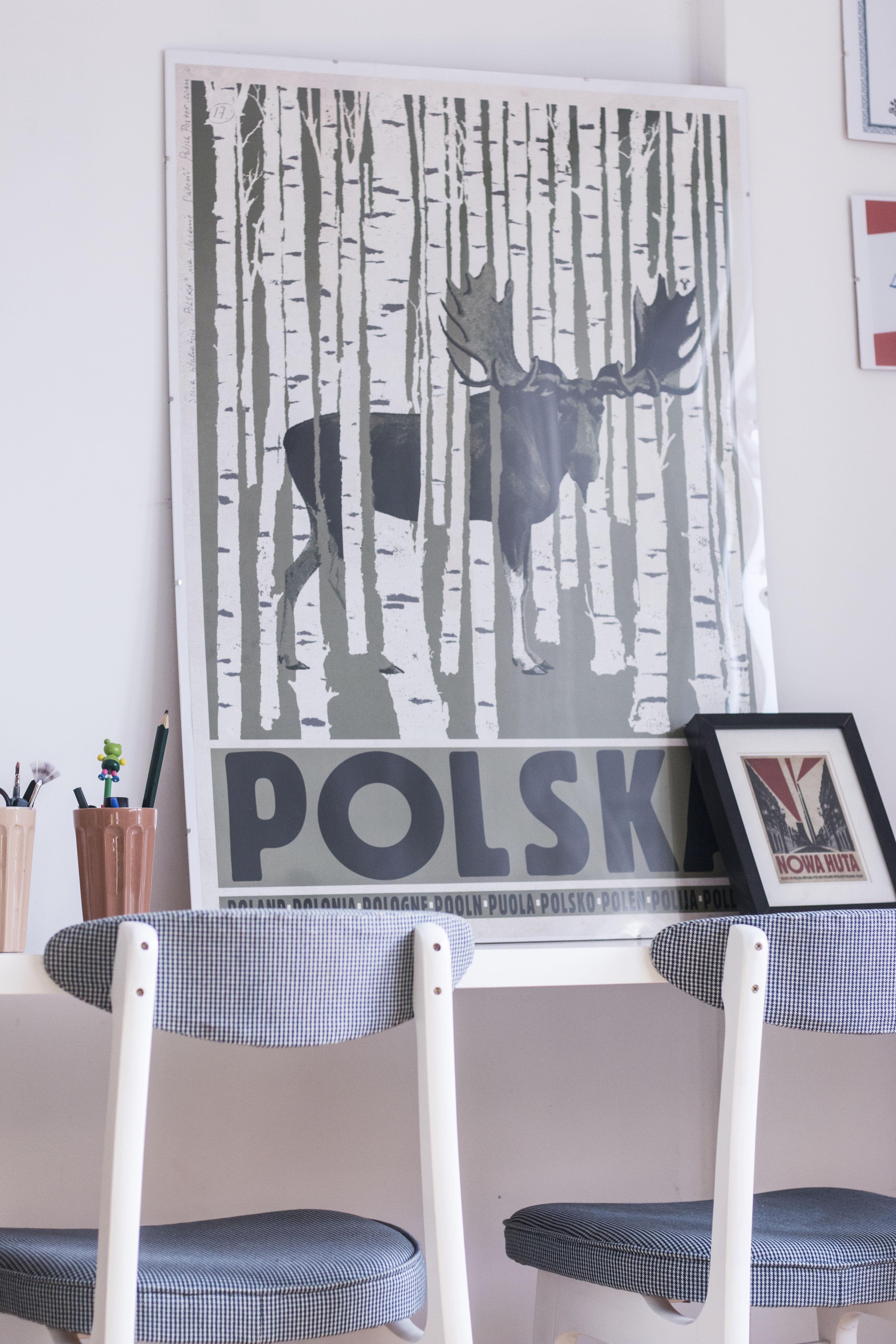Plakat Ryszard Kaja Polska Krzesła Prl Rajmund Hałas Typ