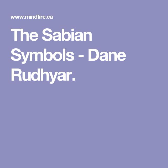 The Sabian Symbols Dane Rudhyar Symbols Pinterest Symbols