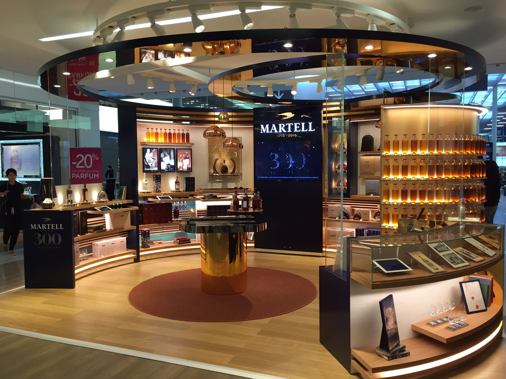 martell celebrates its 300th anniversary with a luxury pop up store in paris charles de gaulle. Black Bedroom Furniture Sets. Home Design Ideas
