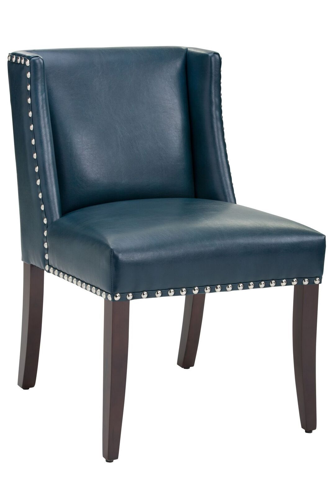 Marlin Blue Leather Dining Chair Set Of 2 By Sunpan Modern 100300 Leather Dining Chairs Leather Dining Dining Chairs