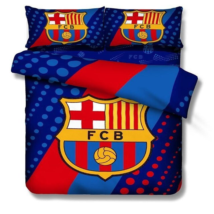 100 Cotton Kids Boys Barcelona Bedding Set Footall Team Quilt Cover Twin  Full Size Bed Cover