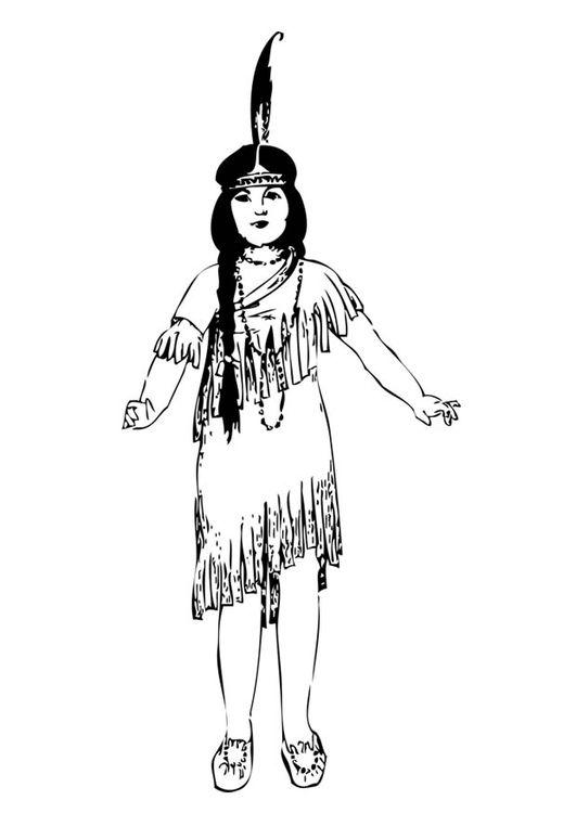 Dibujo para colorear chica india | coloring 5 | Pinterest | Colores ...