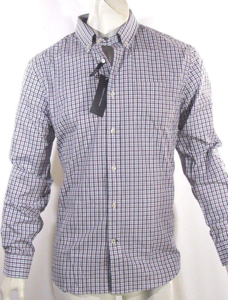 Tommy Hilfiger men's long sleeve laid shirt MSRP $79.50 NEW on SALE  #TommyHilfiger #ButtonFront