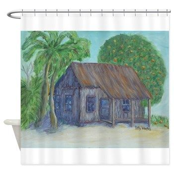 OLD FLORIDA CRACKER HOUSE 2 Shower Curtain