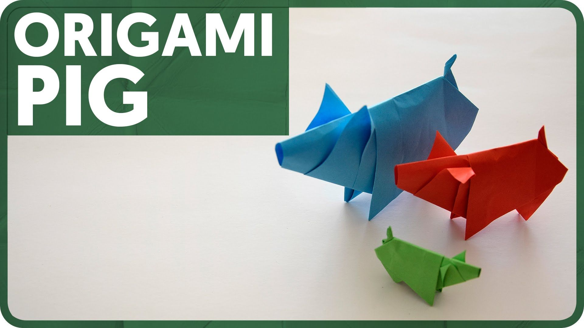 Origami Pig (Eduardo Clemente)   Origami: Flora and Fauna ... - photo#28