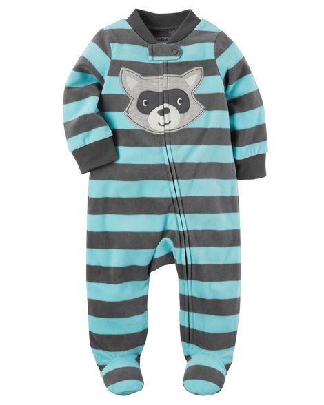 e2e097e5b628 Raccoon Zip-Up Fleece Sleep   Play