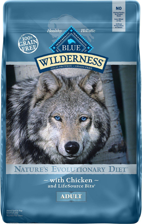 Blue Buffalo Wilderness Chicken Recipe Grain Free Dry Dog Food 24