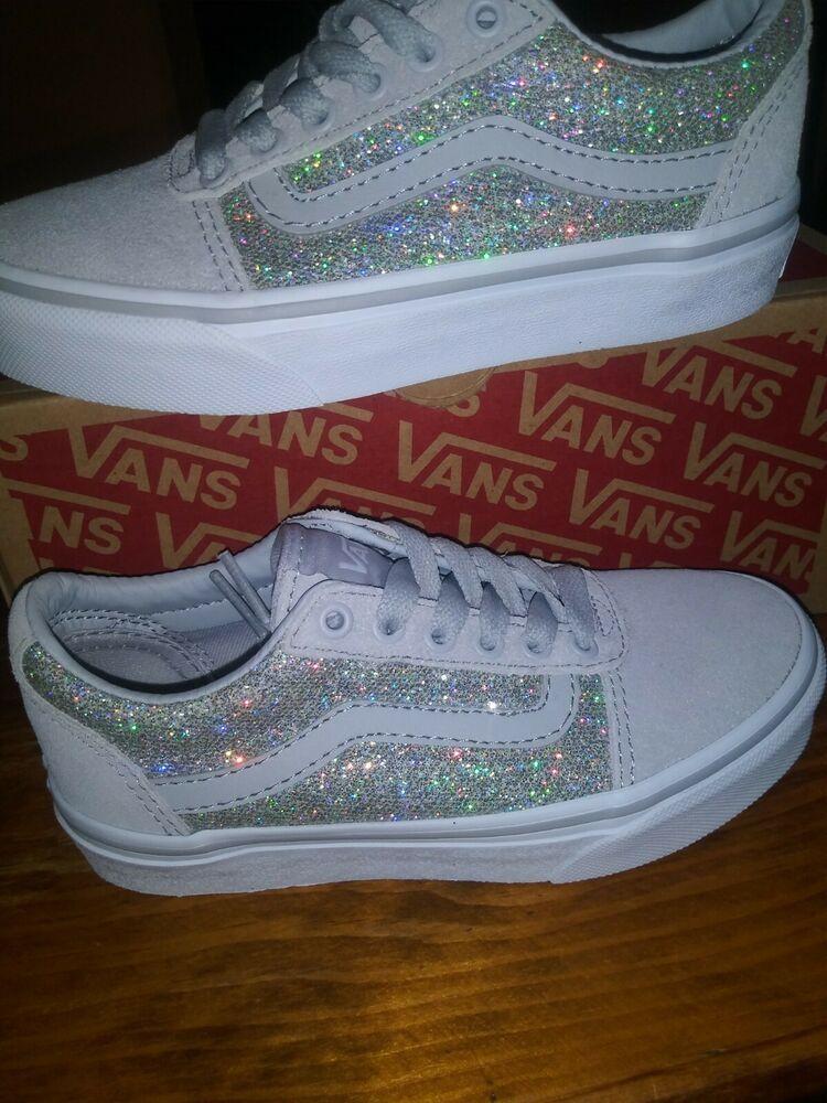 girls sparkle vans