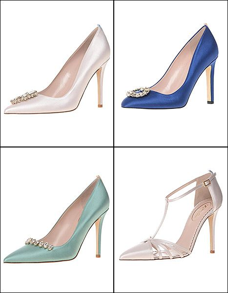 Sjp Has Your Something Blue A New Collection Of Bridal Shoes Photos Sarah Jessica Parker Shoes Bridal Shoes Sjp Shoes