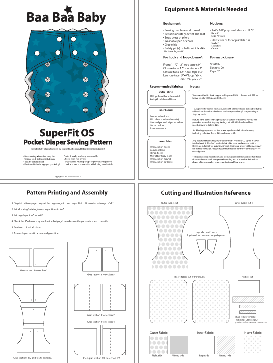 SuperFit OS Pocket Diaper Pattern :: BaaBaaBaby Online Shop | PAÑAL ...