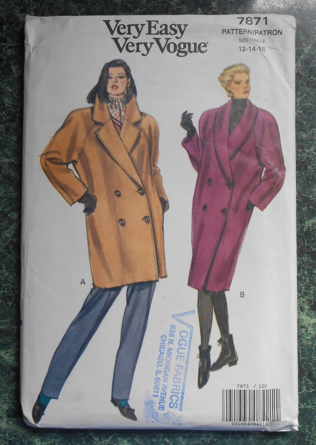 Vogue Sewing Pattern 7871 - Size 12-14-16 by WeBGlass on Etsy ...