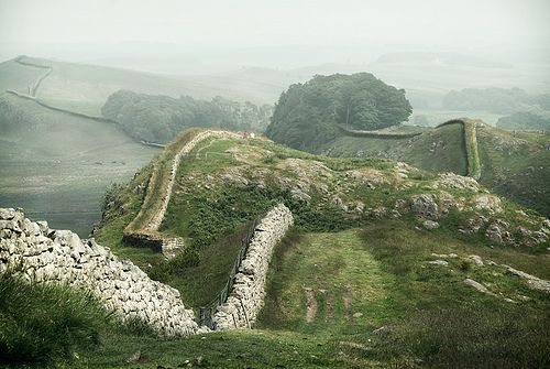 allthingseurope:Hadrian's Wall, UK (by gms) enchantedengland: Hadrian's Wall roughly divides Scotland and England; and it can never ev...