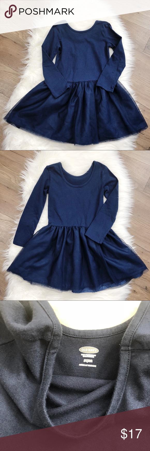 Toddler Girls Navy Blue Long Sleeve Tutu Dress 5t Toddler Girl Old Navy Toddler Girl Tutu Dress [ 1740 x 580 Pixel ]