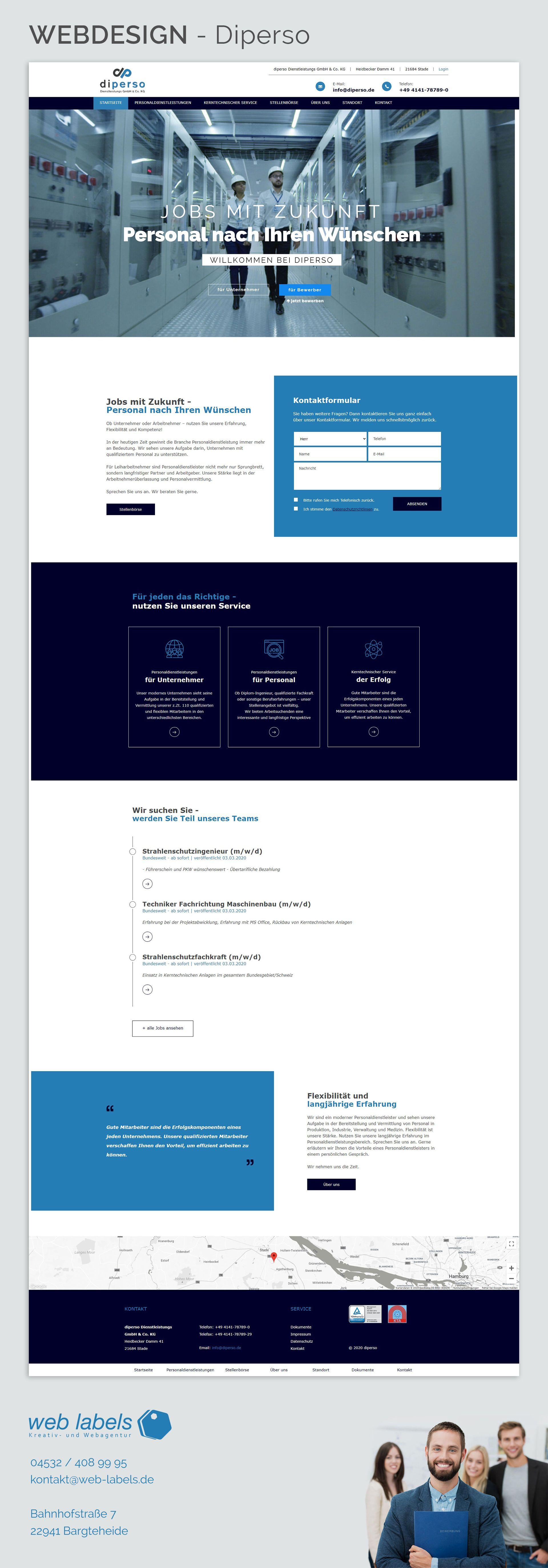 Webdesign Diperso In 2020 Web Design Webdesign Design