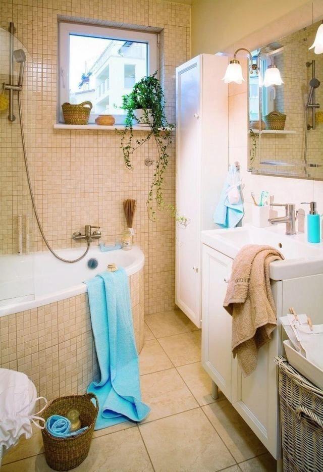 33 idées pour petite salle de bain avec astuces pratiques sur les - salle de bain en bleu