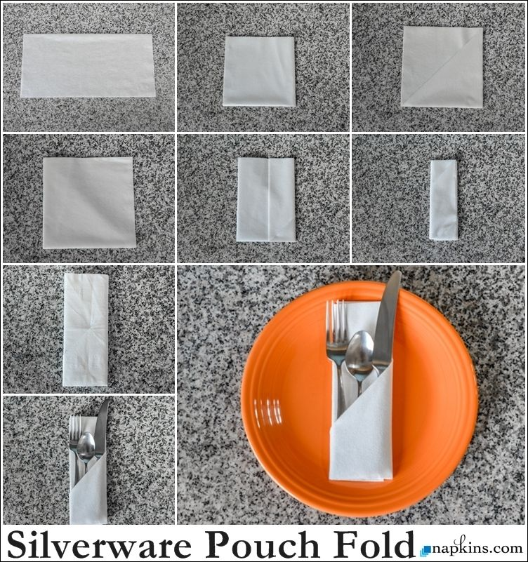 How To Silverware Pouch Napkin Fold Place Settingle