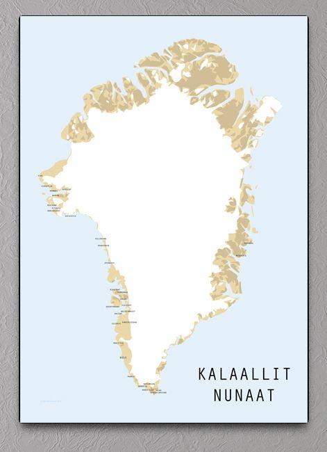 Kalaallit Nunaat Kort Kort Og Plakater