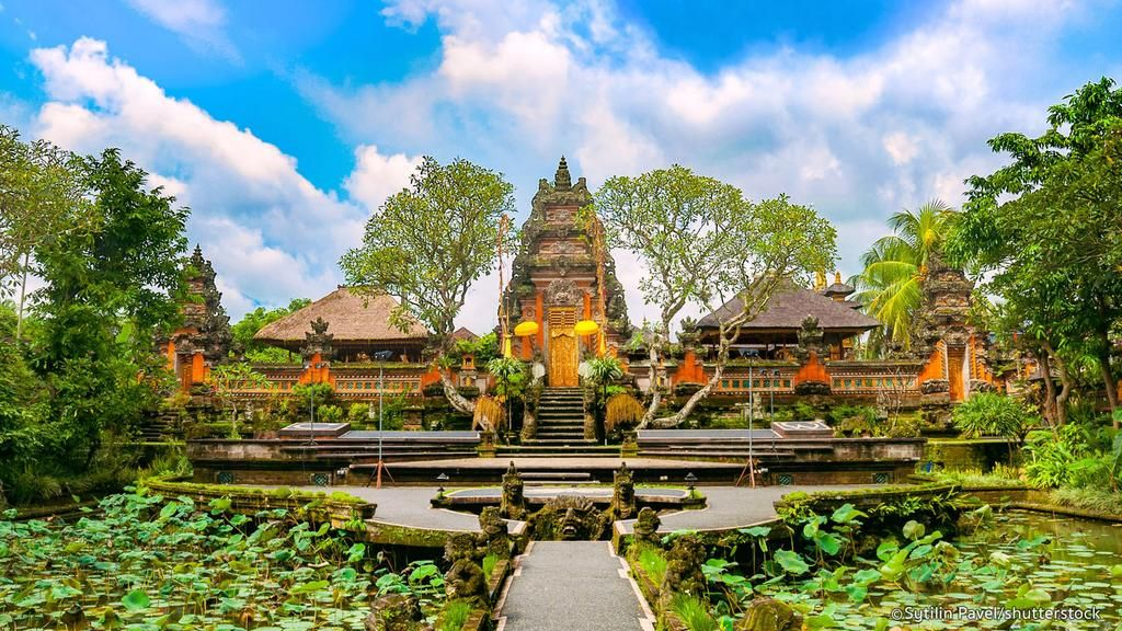The Ubud Palace, officially Puri Saren Agung, is a historical ...