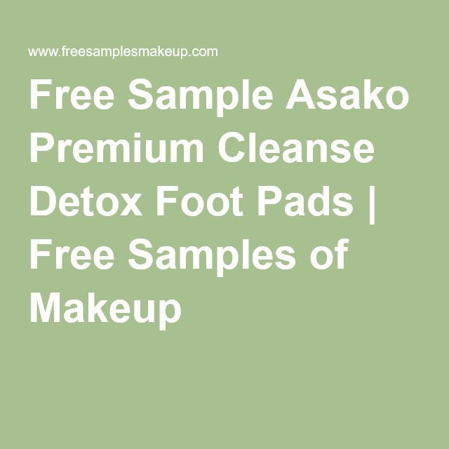 Free purify your body detox foot pads sample yo! Free samples.